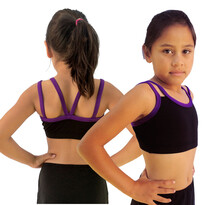 Strappy Croptop - Purple and Black